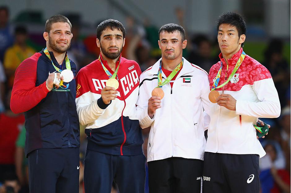 Трэвис Стивенс (США), Хасан Халмурзаев (Россия), Серджиу Тома (ОАЭ) и Таканори Нагасэ (Япония)