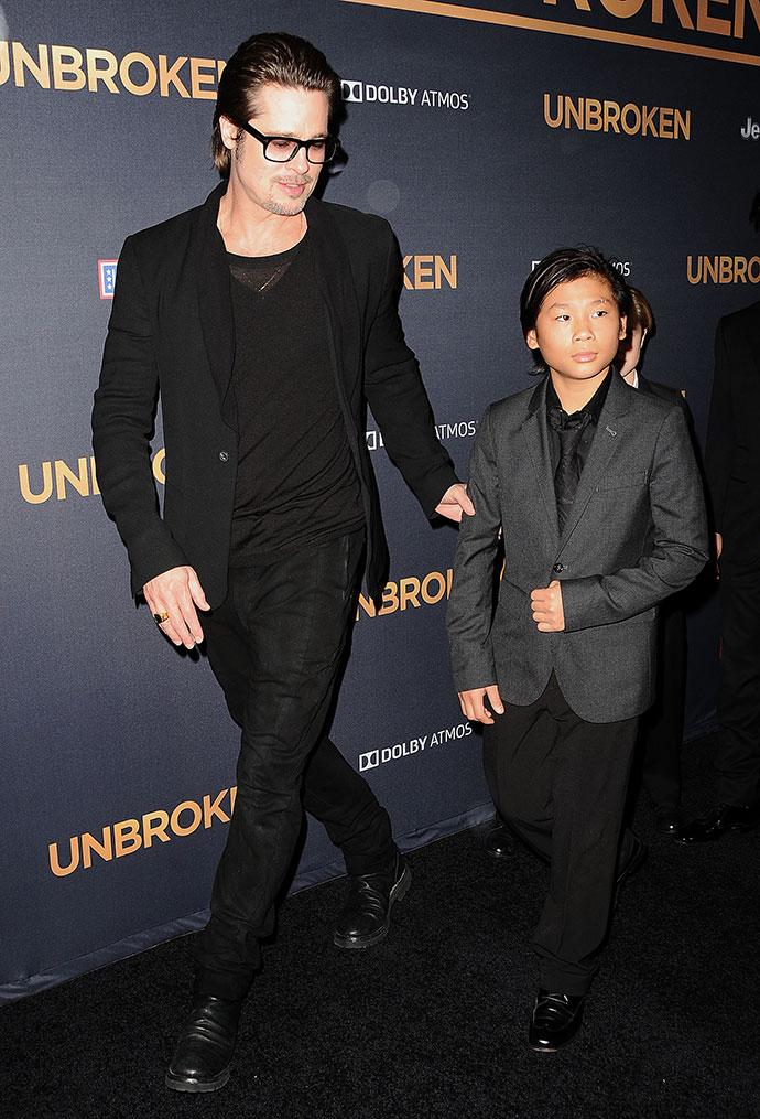 Брэд Питт с сыном Паксом