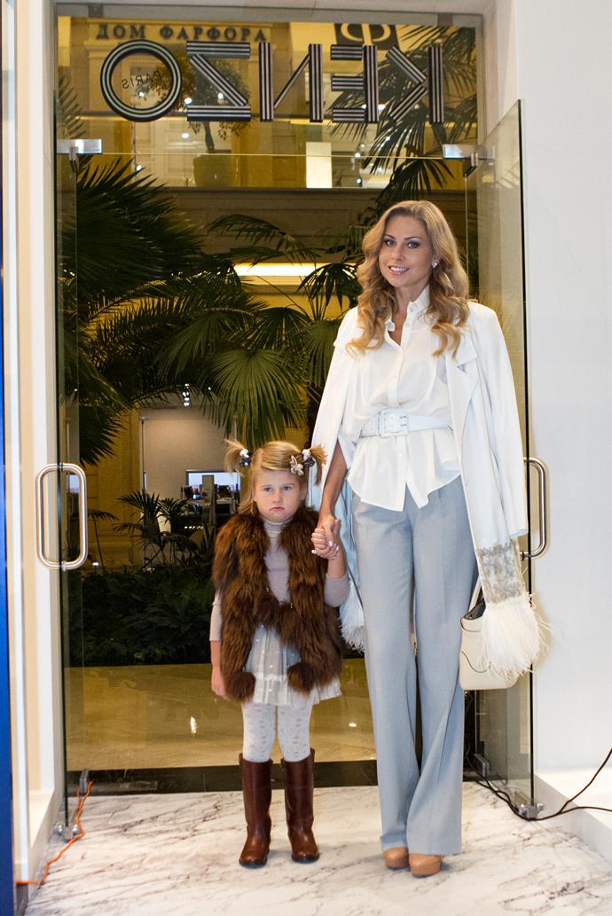 Кристина Колганова с дочкой