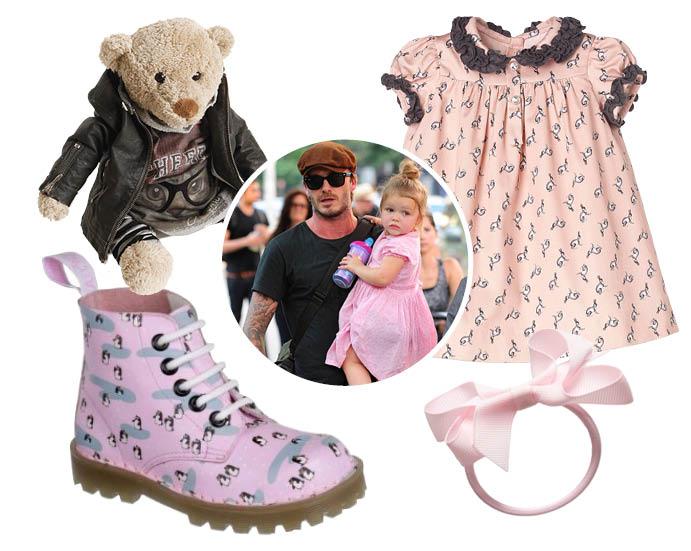 Игрушка, Miss Grant; платье, Nanos; ботинки, Dr. Martens; аксессуар для волос, Peach Ribbons