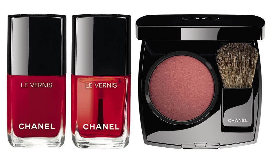 1. Лаки для ногтей Le Vernis Gloss; 2. Румяна Joues Contraste Rouge Profond