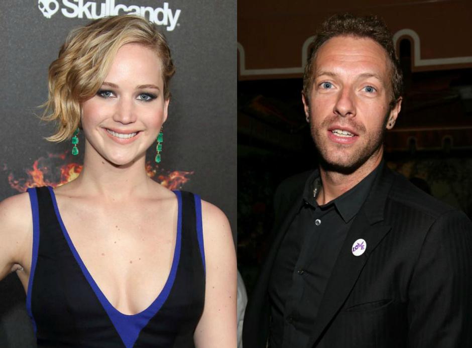 Крис Мартин и Дженнифер Лоуренс перестали скрывать свои отношения