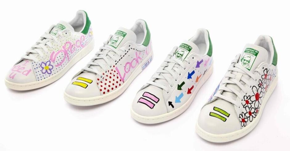 Белые кроссовки Adidas: фото