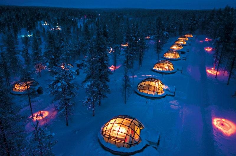 Elle Inspiration: традиционные финские иглу в отеле Kakslauttanen