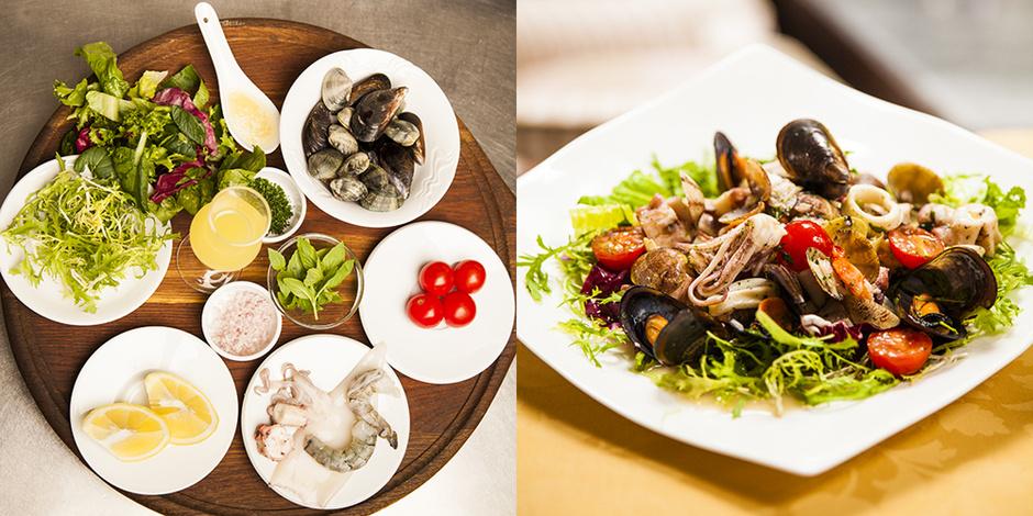 салат с морепродуктами с фото