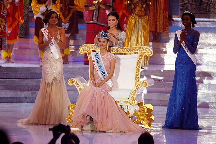 """Меган Янг в финале конкурса """"Мисс мира-2013"""""""