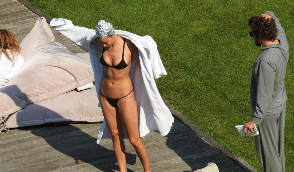 Ирина Шейк на отдыхе в Италии