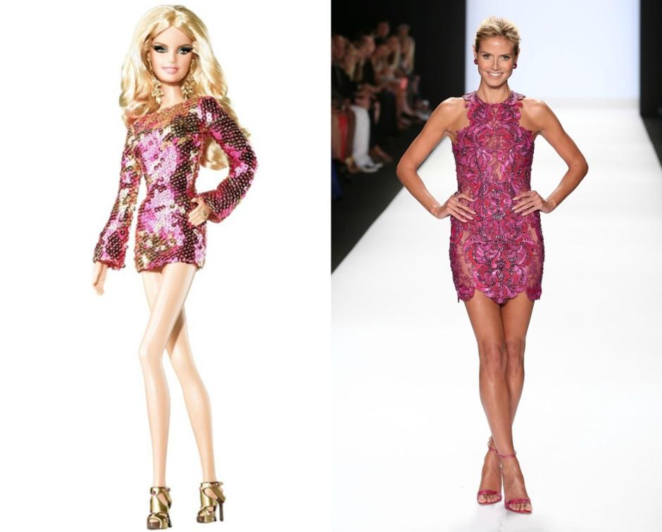 Барби - Хайди Клум куклы-знаменитости