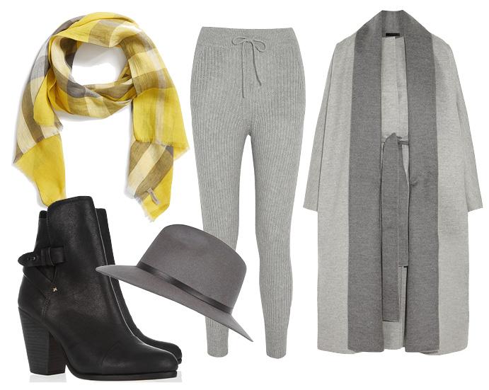 Выбор ELLE: пальто The Row, ботильоны Rag&Bone, шарф Burberry, шляпа River Island