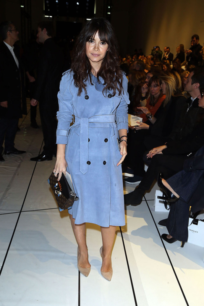 Miroslava Duma attends the Mugler show as part of the Paris Fashion Week Womenswear FallWinter 20152016 on March 7, 2015