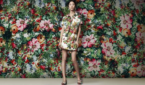 Ткань Dolce & Gabbana, Fall/ Winter 2014.