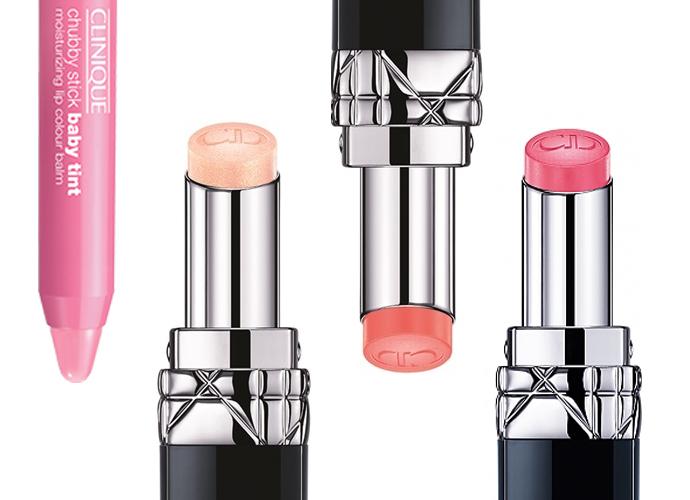 Выбор ELLE: Chubby Stick Baby Tint, оттенок 03 Budding Blossom; бальзам Rouge Dior Baume, оттенки Star, Spring, Primerose