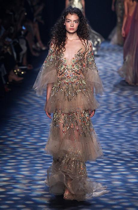 Звезды и самые красивые платья на показе Marchesa в Нью-Йорке