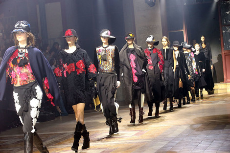 Показ Lanvin на неделе моды в Париже | галерея [1] фото [1]