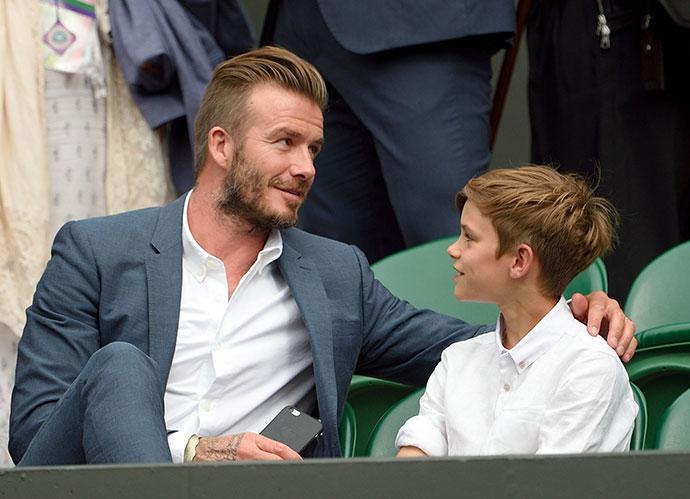 Дэвид Бекхэм с сыном Ромео