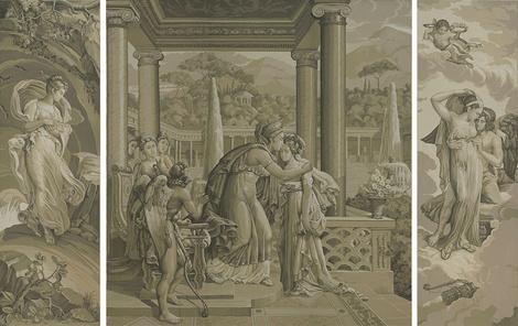 Коллекция Cupid & Psyche марки de Gournay | галерея [1] фото [2]