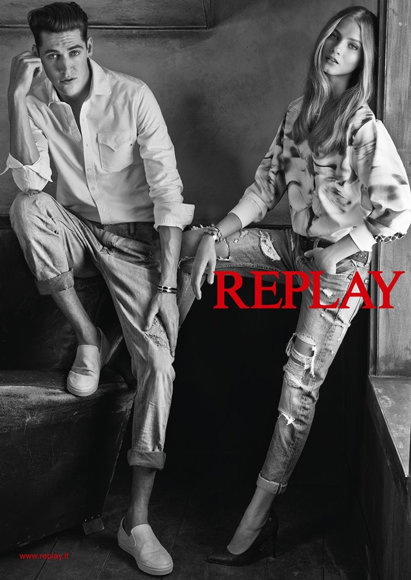 Рекламная кампания Replay весна-лето 2015