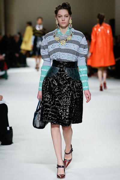 Неделя моды в Париже: показ Miu Miu pret-a-porter осень-зима 2015/16 | галерея [1] фото [8]