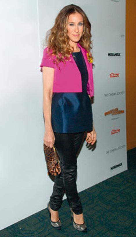 Жакет, Jil Sander; топ, Marni; легинсы, Rag & Bone; туфли, Alexander McQueen; сумка, Dolce & Gabbana.
