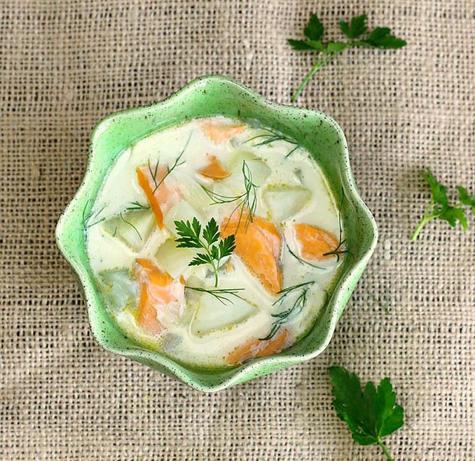 Крем-суп из фенхеля с мандарином
