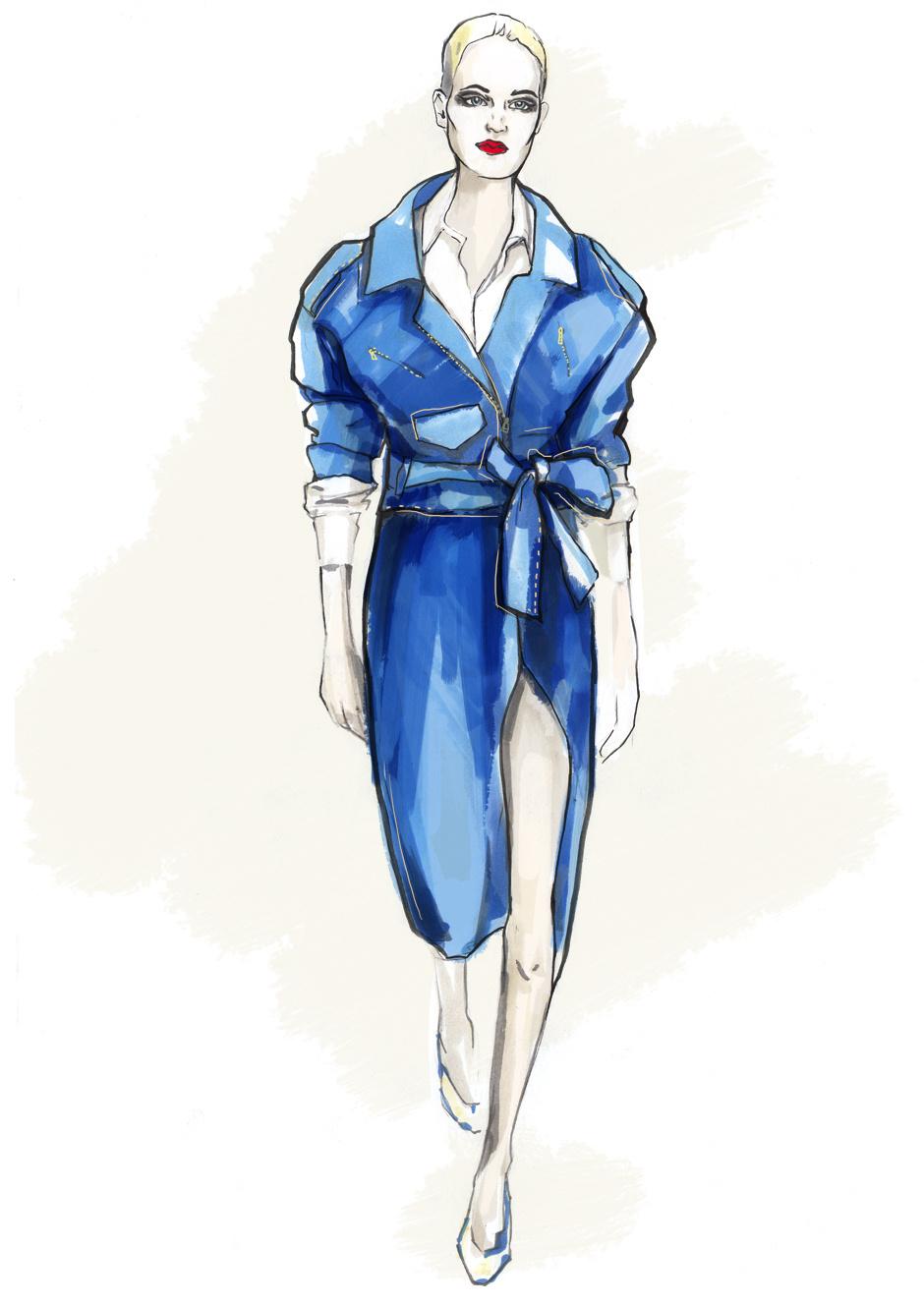 Неделя моды в Нью-Йорке в иллюстрациях