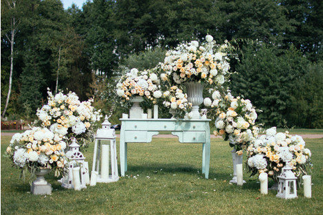 Весенняя свадьба: оформление | галерея [6] фото [1]