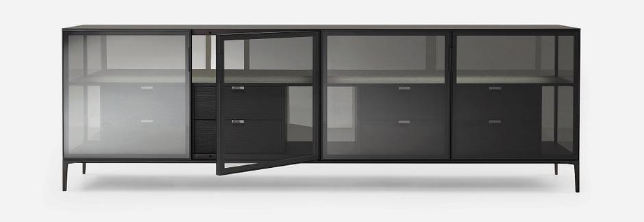25 модных систем хранения для гостной