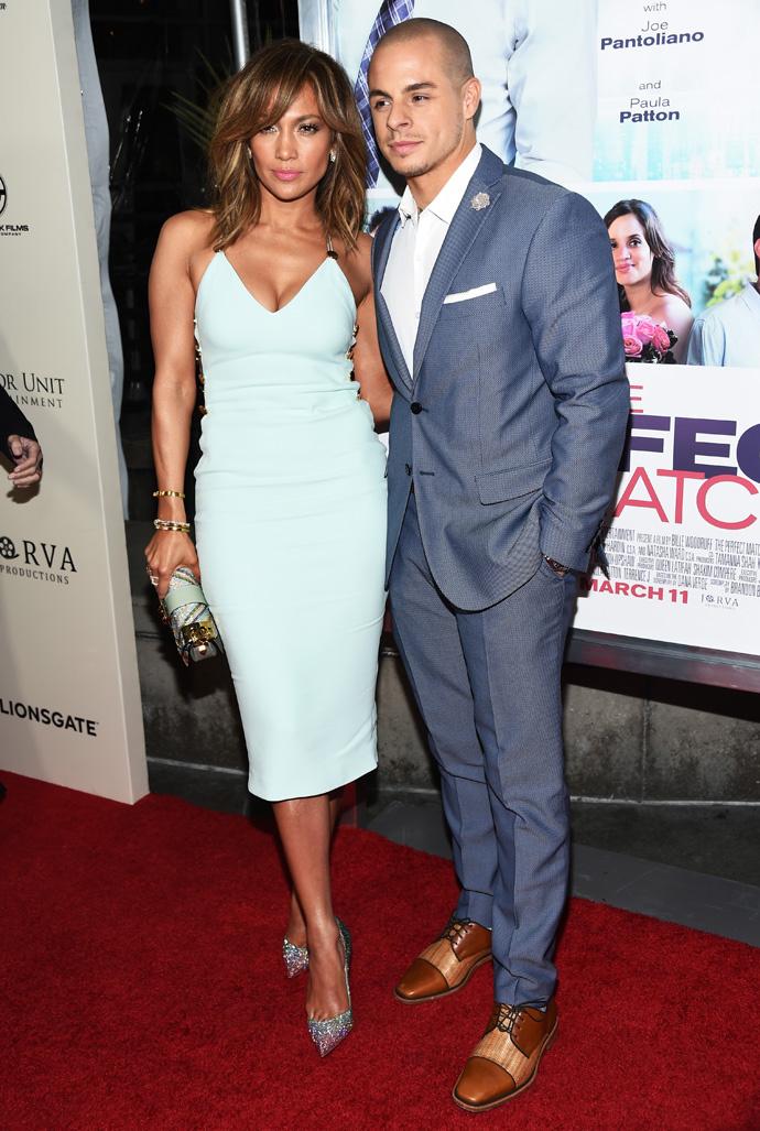 Фото дня: Дженнифер Лопес и Каспер Смарт на премьере фильма «Идеальный выбор»