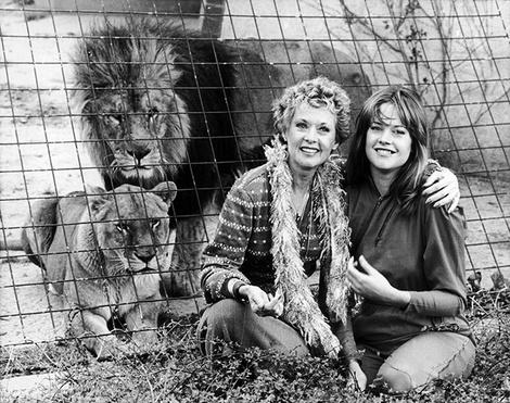 Мелани Гриффит с мамой Типпи Хедрен