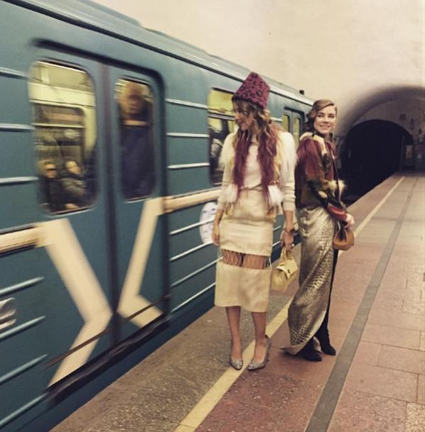 Ксения Собчак в метро