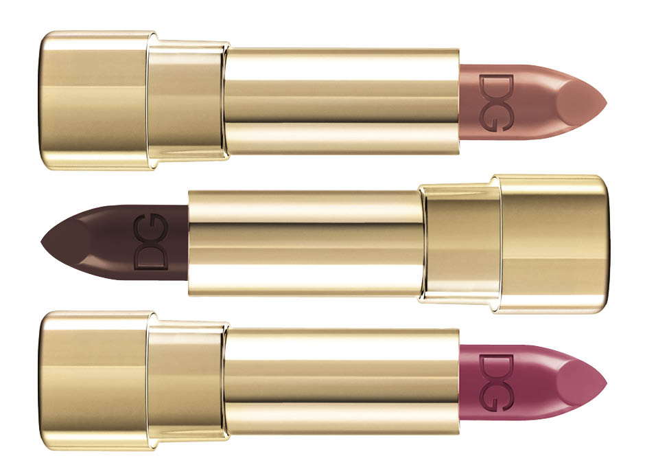 1. Classic Cream Lipstick Honey; 2. Shine Lipstick Chocolate; 3. Shine Lipstick SN1