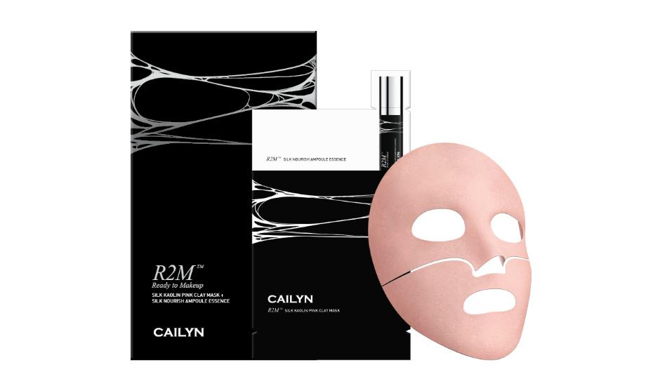 Маска из розовой глины R2M Skin Kaolin Pink Clay Mask + питательная эссенция в ампуле Silk Nourish Ampoule Essence от Cailyn
