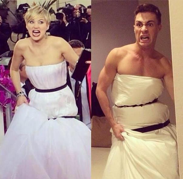 дженнифер лоуренс золотой глобус-2014 мемы платье