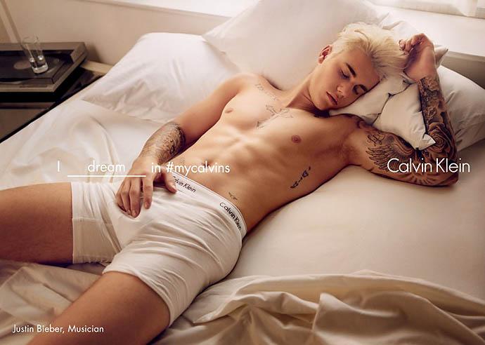 Джастин Бибер в рекламной кампании Calvin Klein Underwear