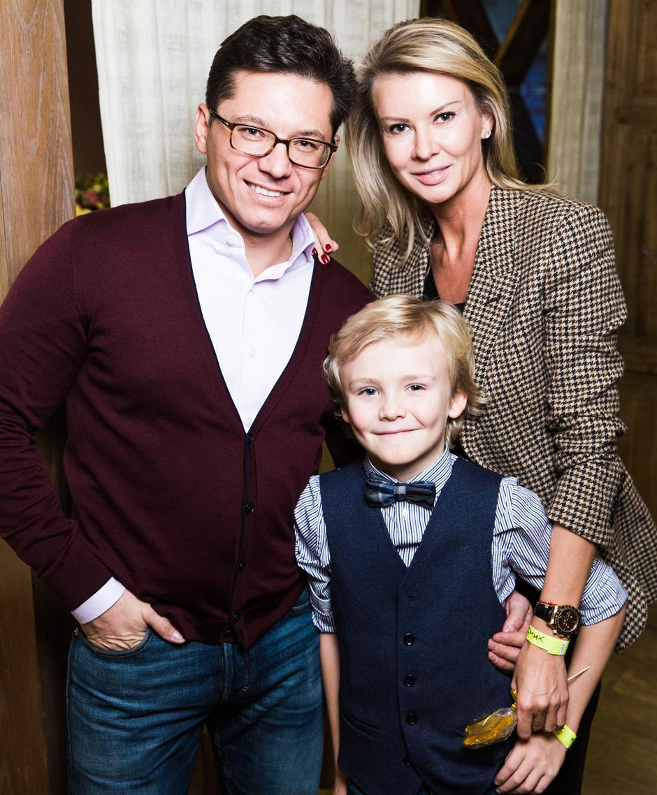 Антон и Виктория Борисевич с сыном Максимом