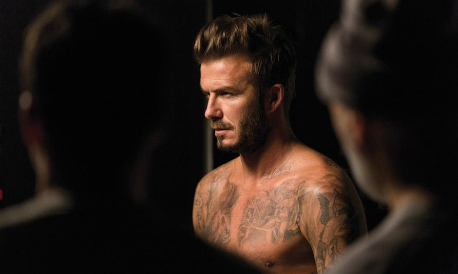 Дэвид Бекхэм в рекламной кампании аромата David Beckham Beyond