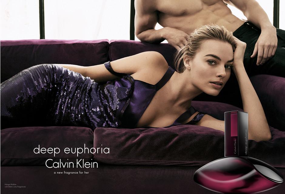 Марго Робби в рекламной кампании Calvin Klein deep euphoria