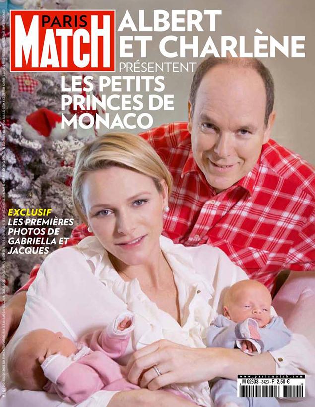 Князь Альбер II и принцесса Шарлен показали новорожденных фото