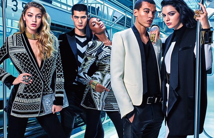 Первый кадр рекламной кампании Balmain x H&M