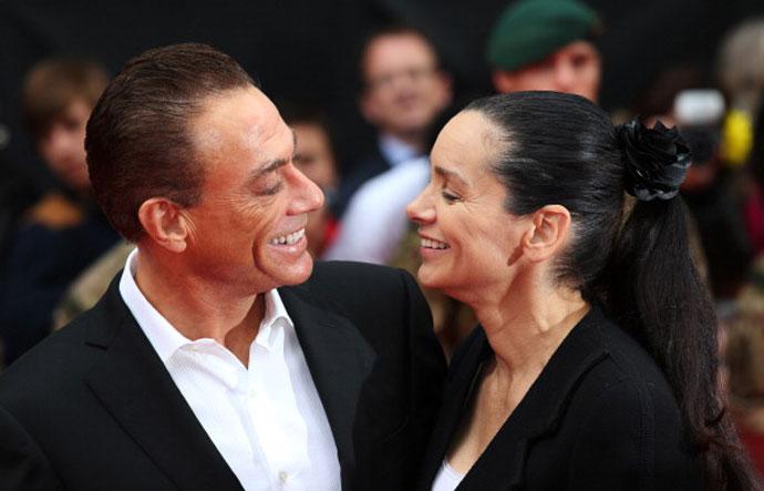 Жан-Клод с женой Глэдис