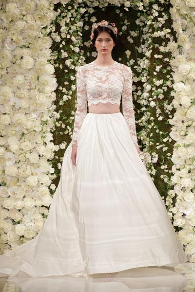 Марка Reem Acra представила свадебную коллекцию