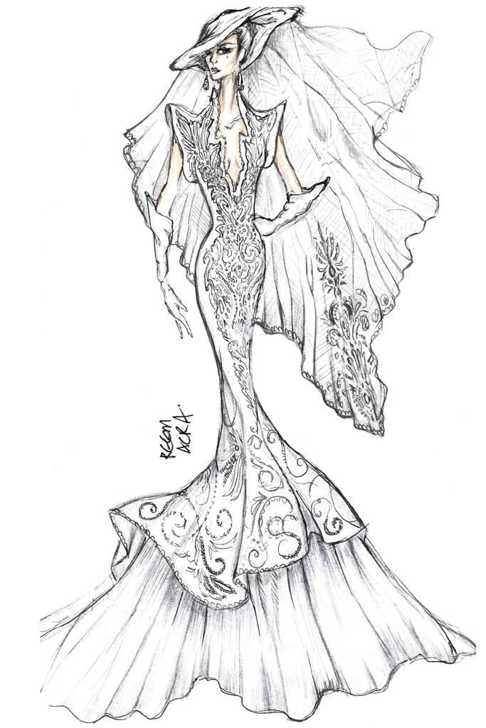 Свадебное платье Леди Гага от Reem Acra