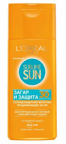 Молочко, продлевающее загар Sublime Sun Protect & Sublime SPF 30 от L'Oreal Paris