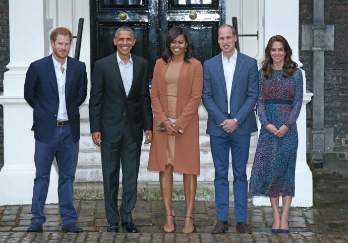 Принц Гарри, Барак и Мишель Обама, принц Уильяму и Кейт Миддлтон