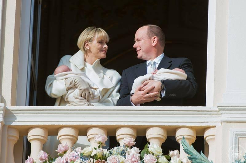 Князь и княгиня Монако Альбер и Шарлен