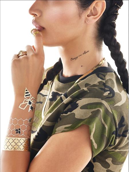 Бейонсе снялась в рекламе собственной коллекции флэш-тату | галерея [1] фото [5]