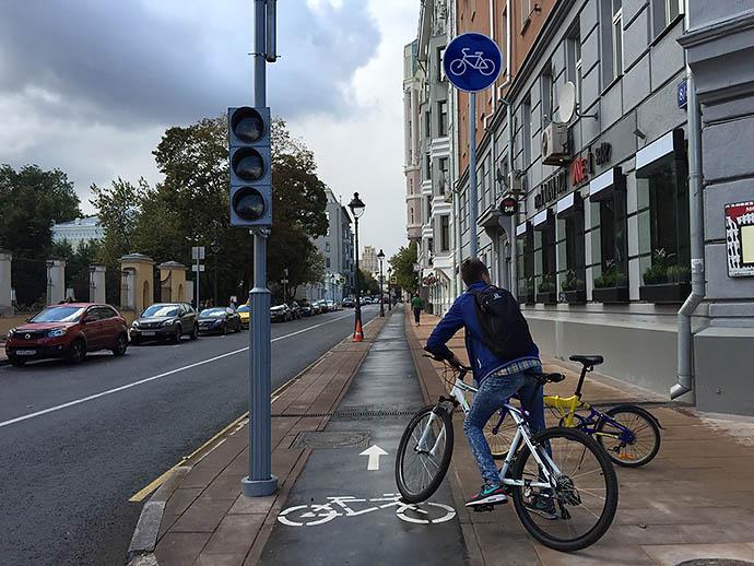 Велодорожки на Бульварном кольце