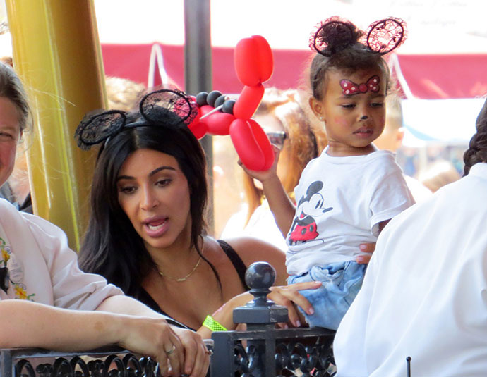 Ким Кардашьян с дочерью