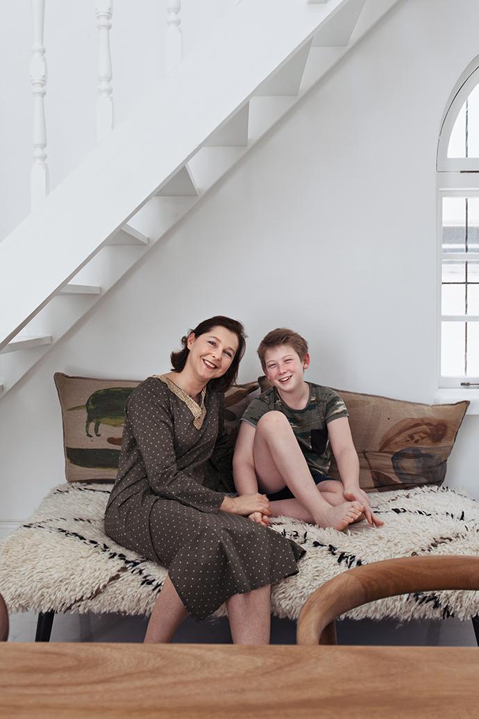 Элизабет Лериш с сыном Нельсоном