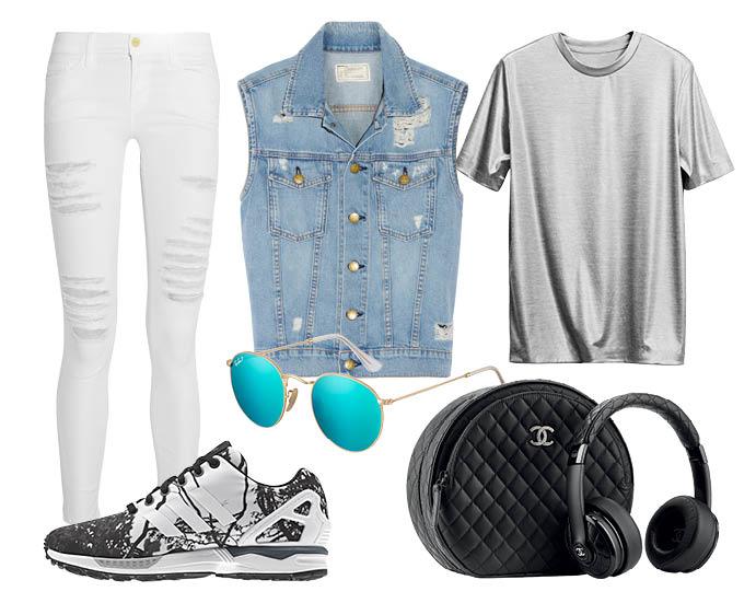 How to wear: жилет из денима 3
